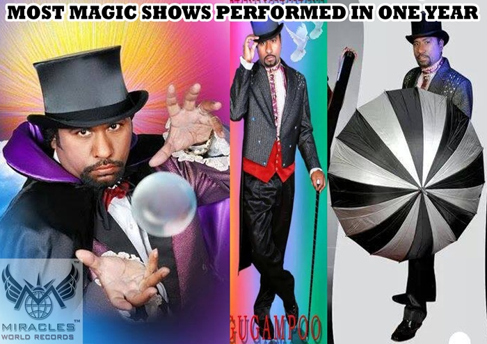 MOST MAGIC SHOWS PERFORMED IN ONE YEAR http://www.miraclesworldrecords.com/Gallery/Details/188