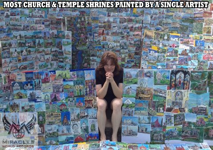MOST CHURCH & TEMPLE SHRINES PAINTED BY A SINGLE ARTIST  http://www.miraclesworldrecords.com/Gallery/Details/191
